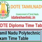 TNDTE Diploma Exam Date Sheet 2021