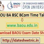 BAOU BA BSc BCom Date Sheet 2021