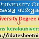 Kerala University UG PG Allotment 2021