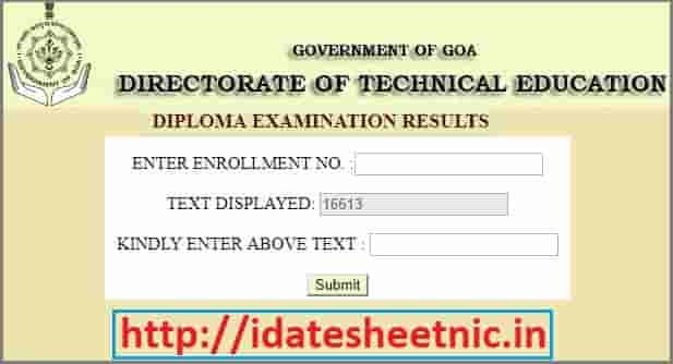 DTE Goa Result 2019 Goa Diploma/Polytechnic 2nd/4th/6th Sem Results