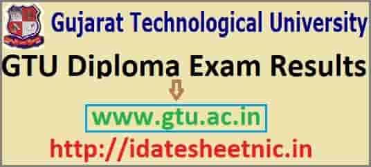 Gujarat GTU Diploma Result 2019-20