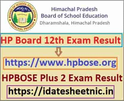 HP Board 12th Result 2021 Name Wise