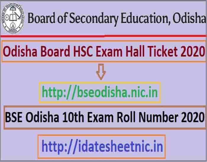 Odisha HSC Hall Ticket 2020