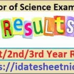 BSc Part 1/2/3 Exam Result 2021