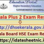 Kerala Board Plus 2 Exam Result 2021 Name Wise