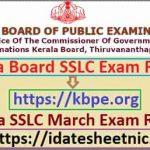 Kerala Board SSLC Exam Result 2021
