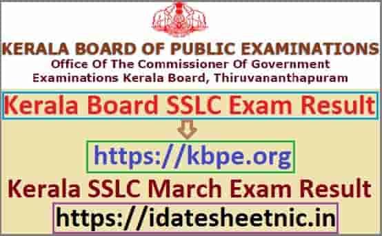 Kerala SSLC Result 2021 Name Wise