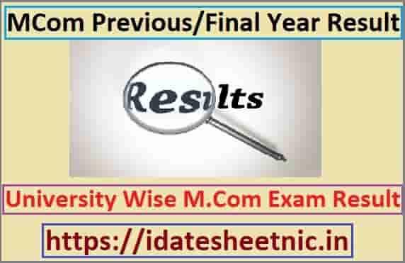 M.Com Exam Result 2020