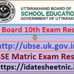 UBSE 10th Exam Result 2021 Name Wise