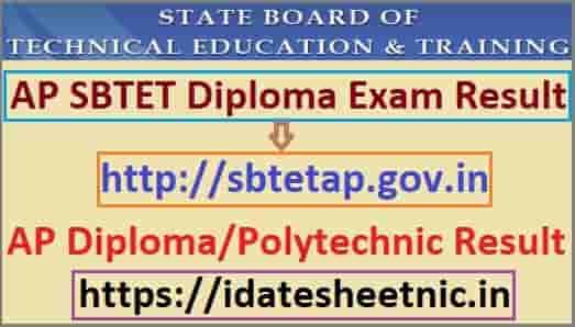 AP SBTET Diploma April Result 2021