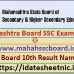 Maha Board SSC Exam Result 2021