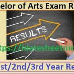 BA Part 1/2/3 Exam Result 2021