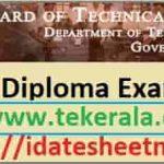 TE Kerala Diploma Exam Result 2020