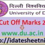DU UG PG Cut Off Marks 2020