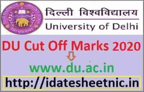 DU Cut Off Marks 2020