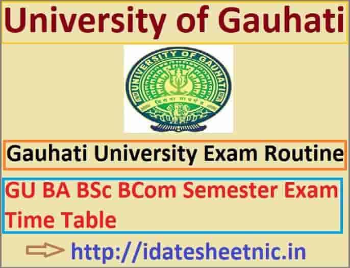 Gauhati University Exam Routine 2022