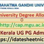 MG University UG PG Admission 2021