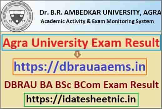 Agra University Result 2020
