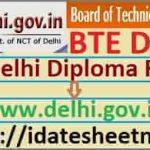 BTE Delhi Diploma Result 2021