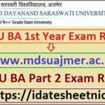 MDSU BA 1st Year Exam Result 2020