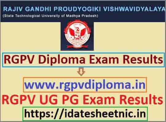RGPV Diploma Result 2019-20