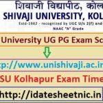 Shivaji University UG PG Exam Time Table 2021