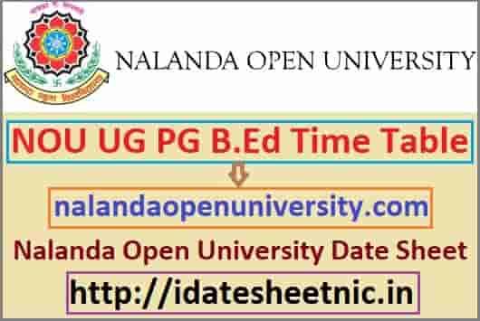 Nalanda Open University Time Table 2021