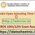 Rabindra Open School Madhyamik HS Time Table 2021
