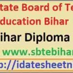 SBTE Bihar Diploma Exam Result 2021