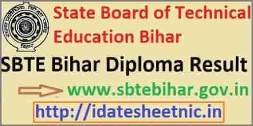 SBTE Bihar Diploma Result 2021