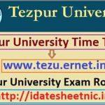 Tezpur University BA BSc BCom Exam Routine 2021