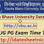 Vinoba Bhave University UG PG Date Sheet 2020