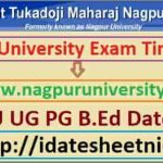 RTMNU UG PG Winter Date Sheet 2021