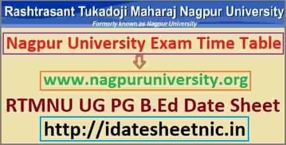 Nagpur University Time Table 2020