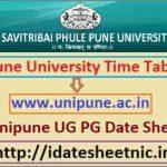 Pune University BA BSc BCom Date Sheet 2021