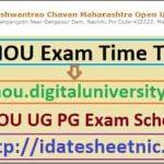YCMOU UG PG Exam Schedule 2021