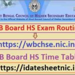 WB Board HS Exam Routine 2021