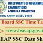 BSEAP SSC Exam Date Sheet 2022