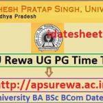 APSU UG PG Exam Time Table 2022