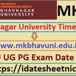 MKBU BA BSc BCom Exam Date Sheet 2022
