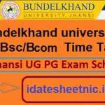 BU Jhansi BA BSc BCom Time Table 2021