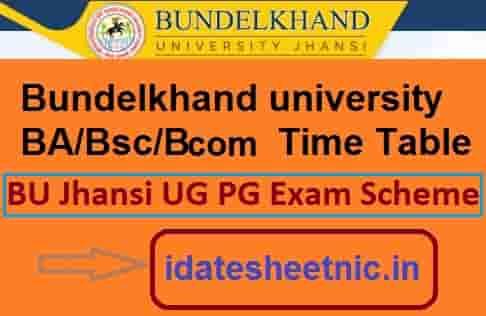 Bundelkhand University Date Sheet 2020