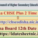 Odisha Board 12th Exam Date Sheet 2022