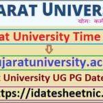 Gujarat University UG PG Date Sheet 2021