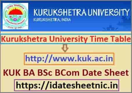 Kurukshetra University Time Table 2020