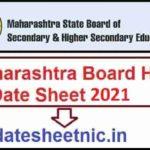 Maharashtra Board HSC Date Sheet 2021