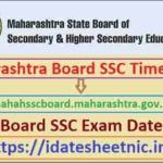 Maharashtra SSC Exam Time Table 2021