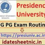 Presidency University UG PG Time Table 2021