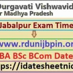 RDVV BA BSc BCom Exam Date Sheet 2021