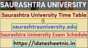 Saurashtra Universiy UG PG Exam Schedule 2021